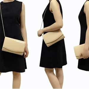 Leather Flap Clutch Evening Bag Dress Purse